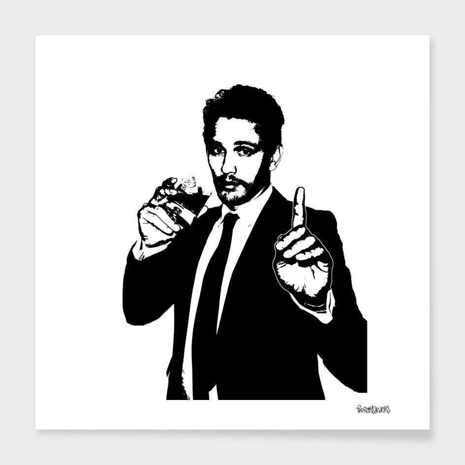 James Franco Stencil