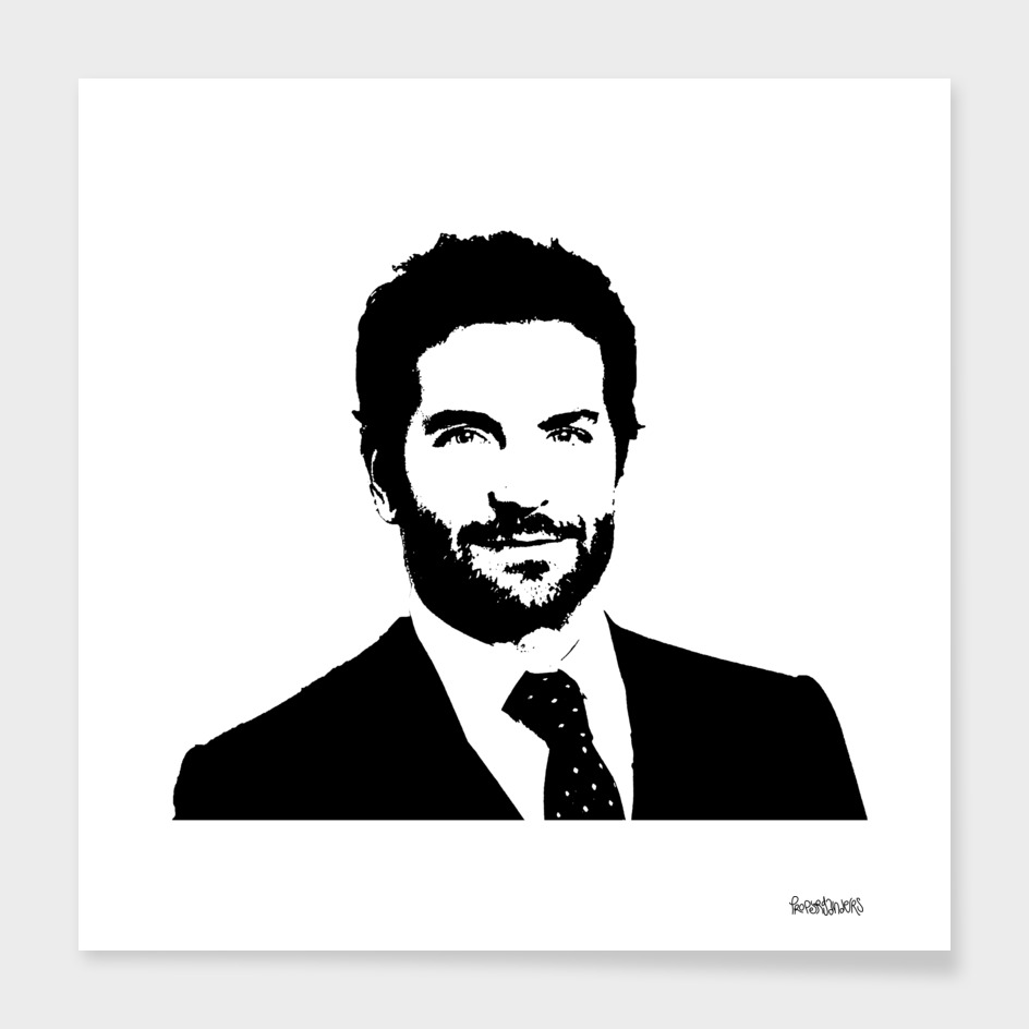 Bradley Cooper Stencil