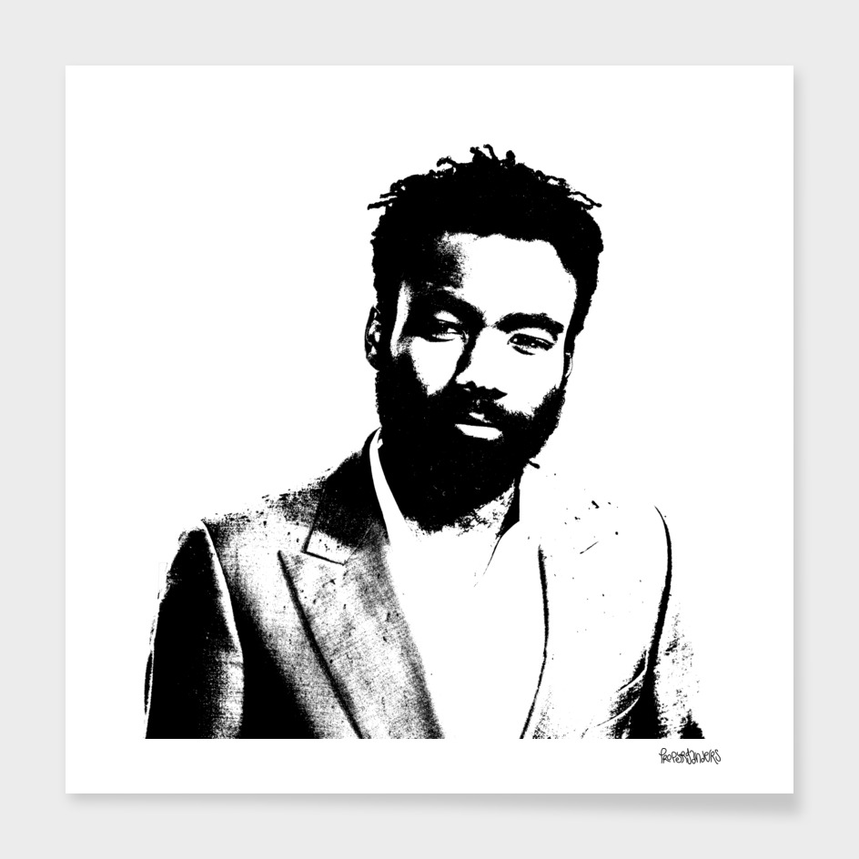 Donald Glover Stencil