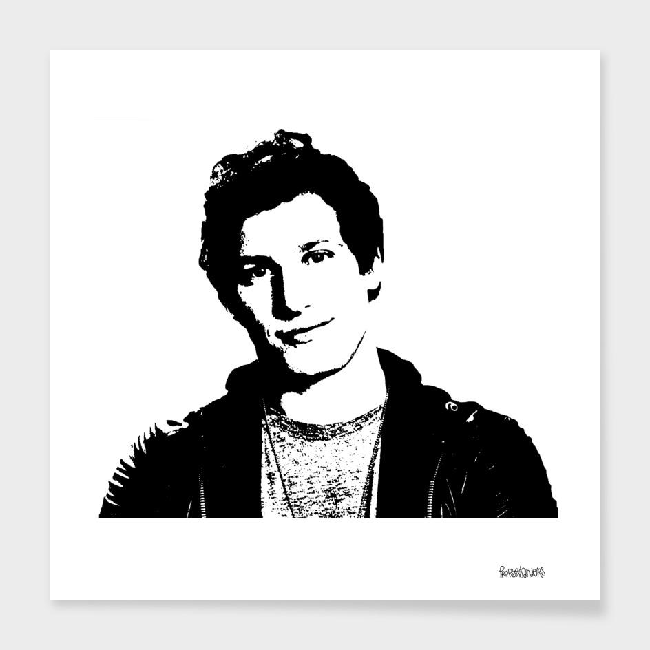 Andy Samberg Stencil