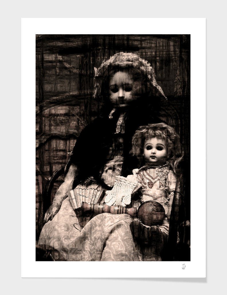 Vintage Dolls Goth Altered Art