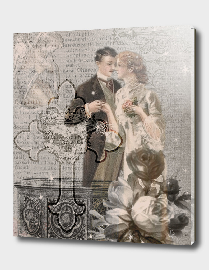 Blessed Union Digital Collage Art
