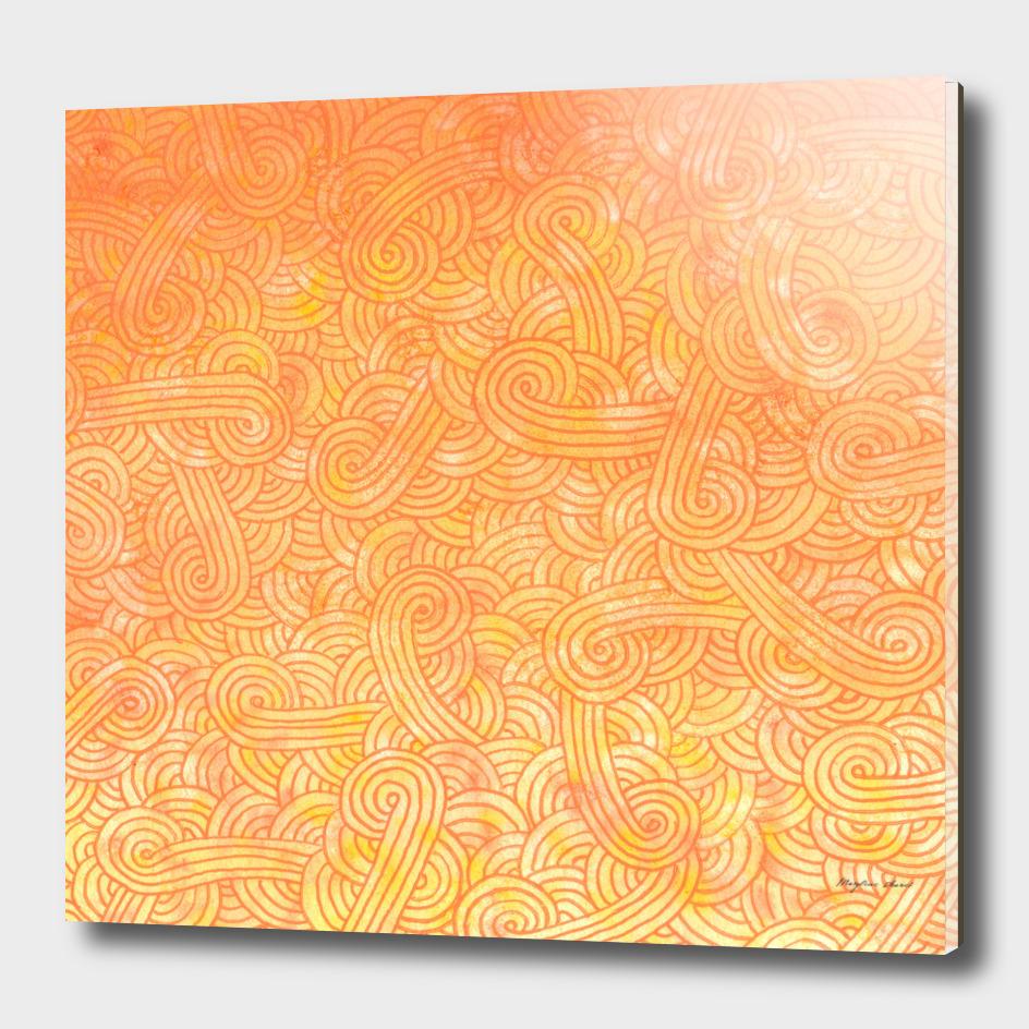 Yellow and orange swirls doodle