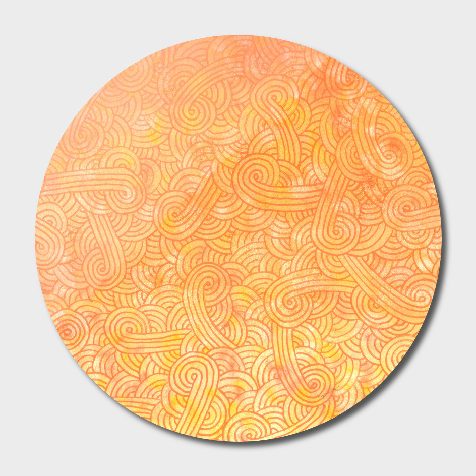 Yellow and orange swirls doodle