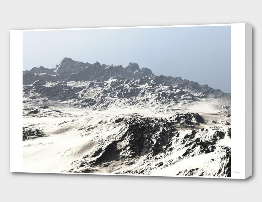 Winter desert landscape