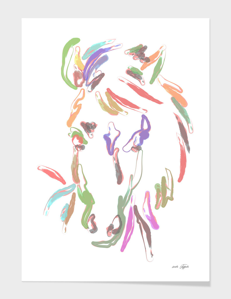Horse head multicolor