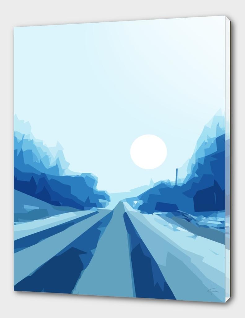 Quiet Blue Road