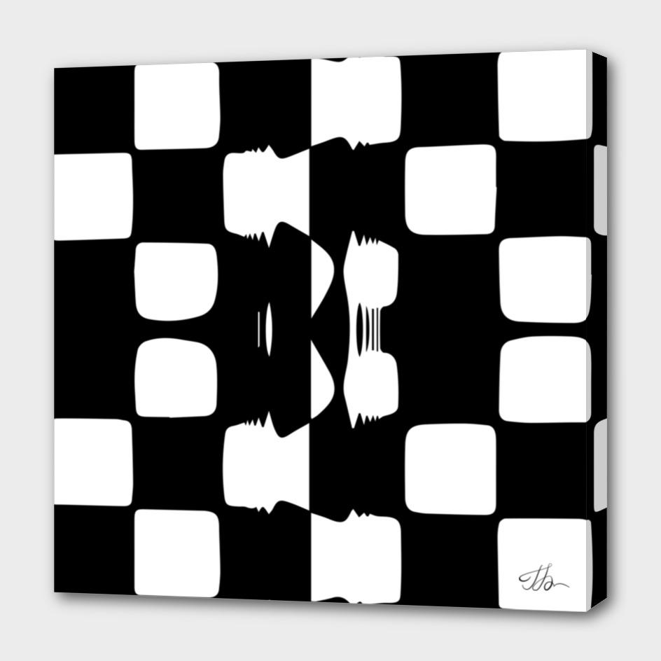 Glued checkerboard