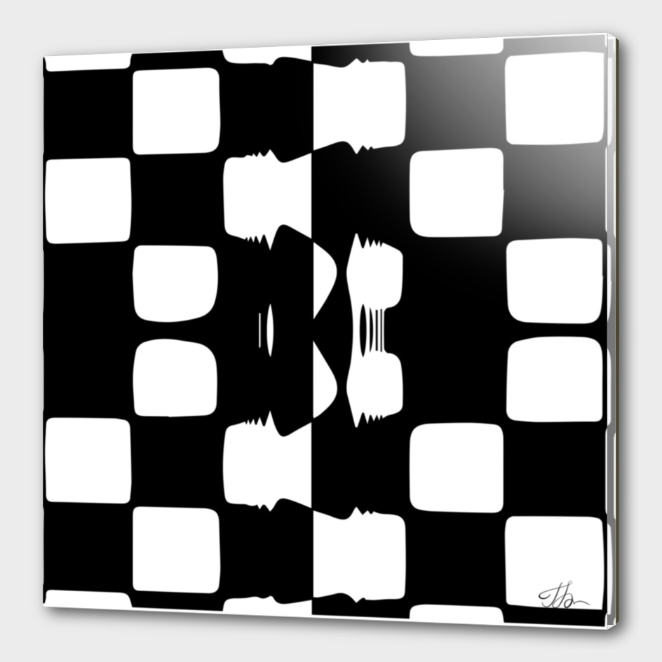 Glued checkerboard