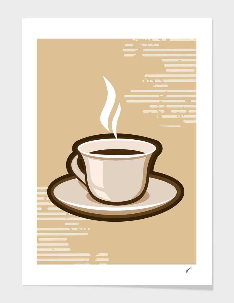 Coffee Poster 62 - Brown Coffee