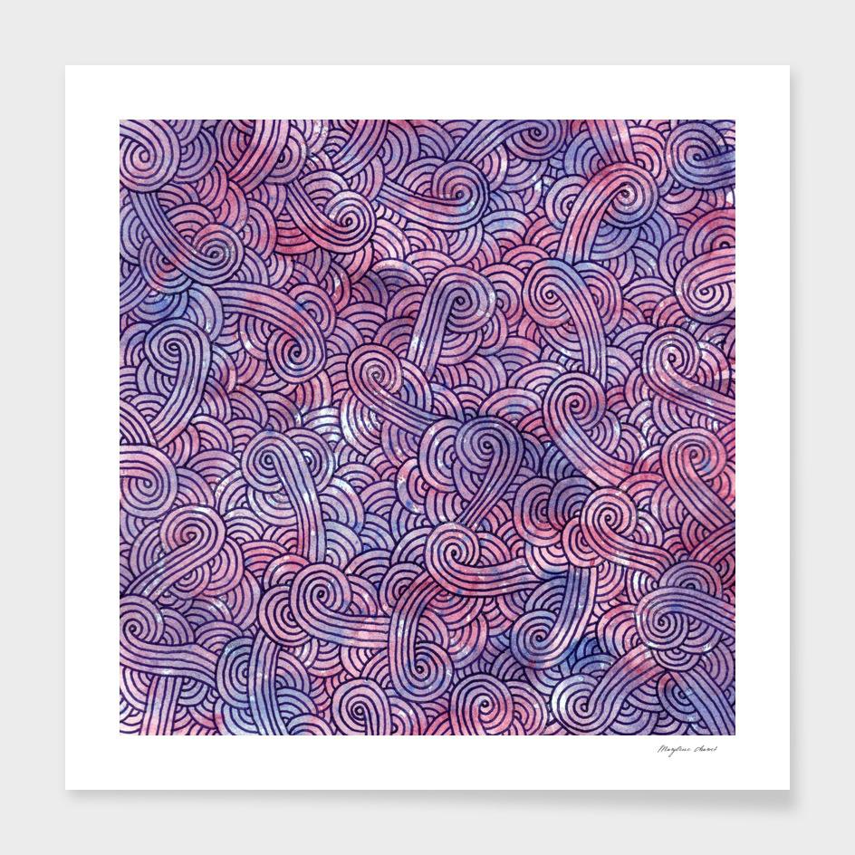 Purple swirls doodle