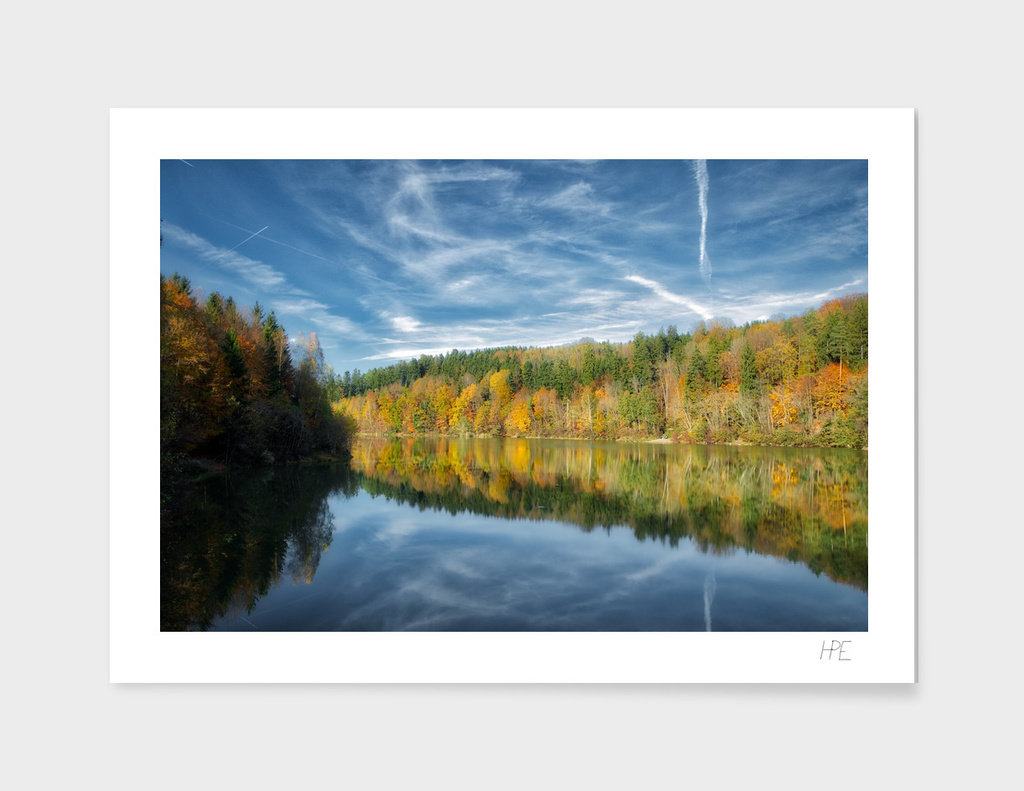 Autumn Forest At The Lake