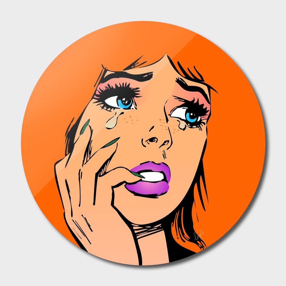 Pin up girl ginger