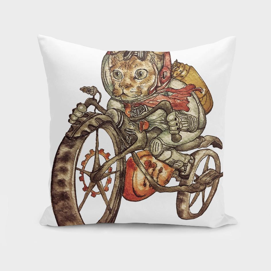 Berserk Steampunk Motorcycle Cat
