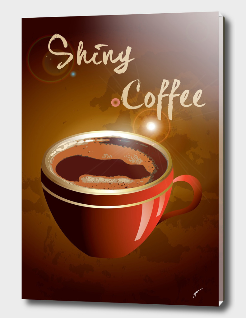 Coffee Poster 71 - Shiny Coffee