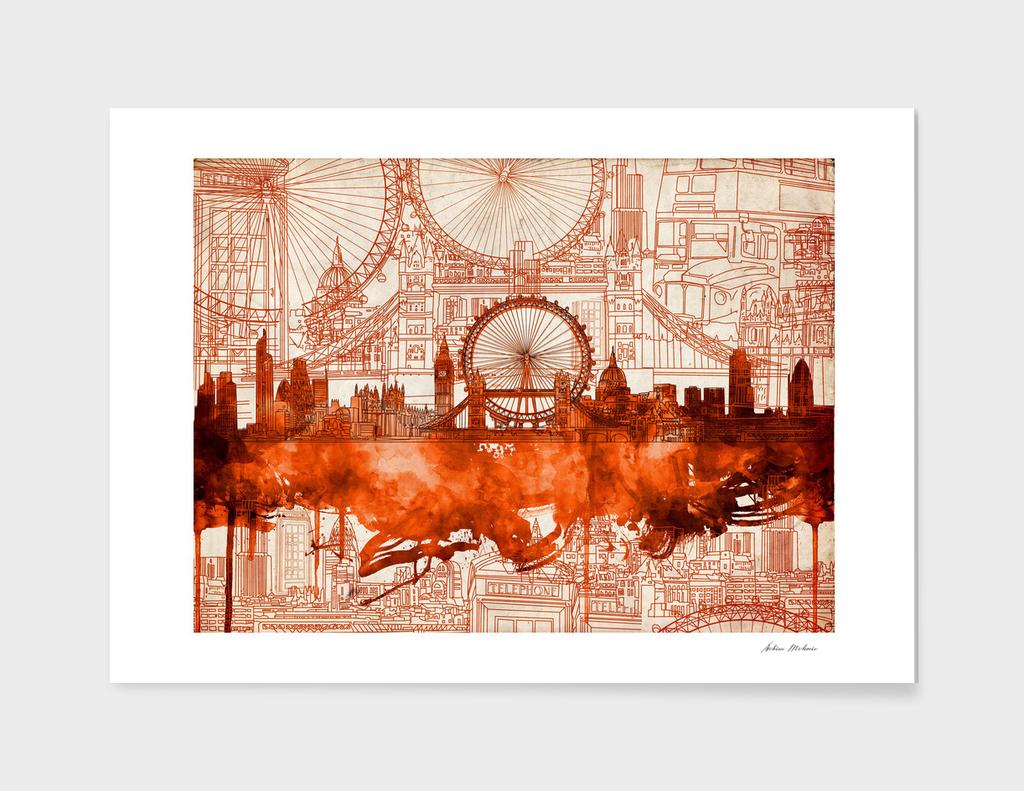 london city skyline vintage 3