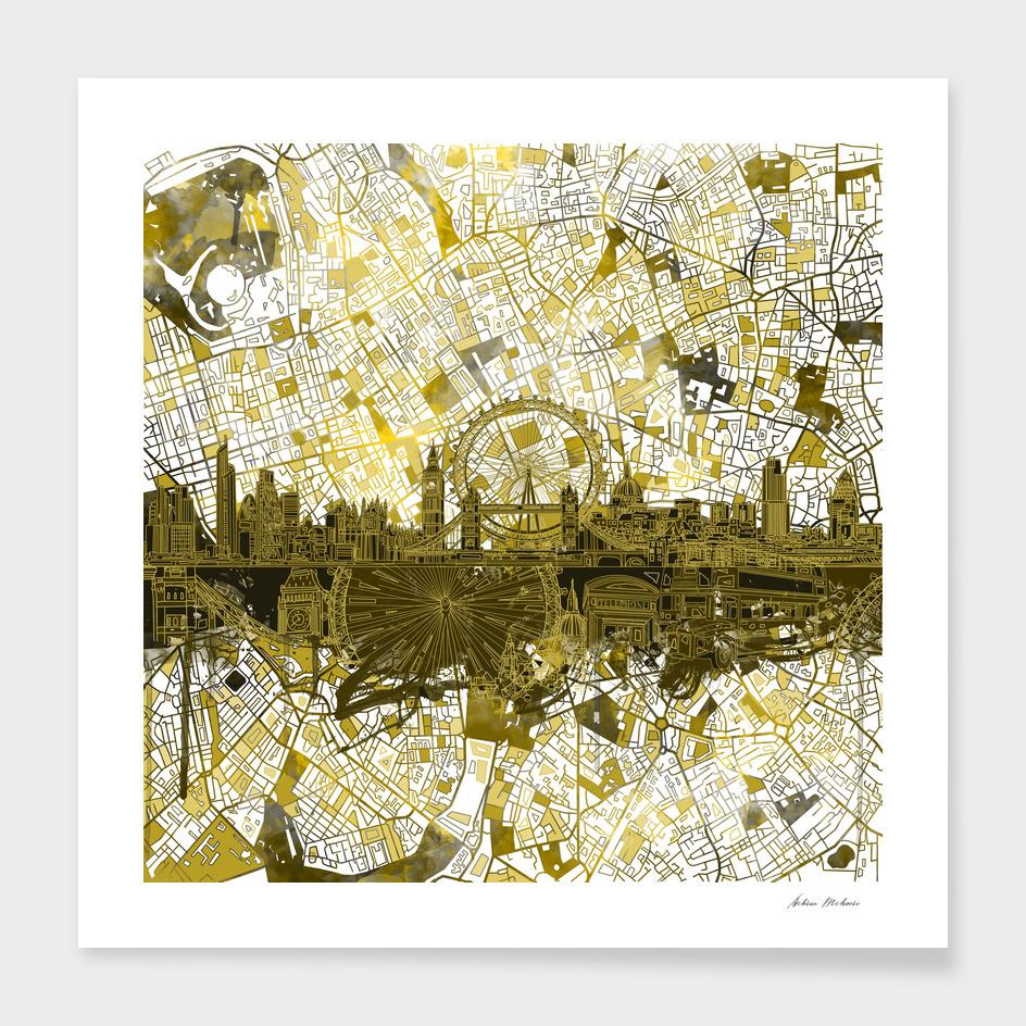 london city skyline abstract 4