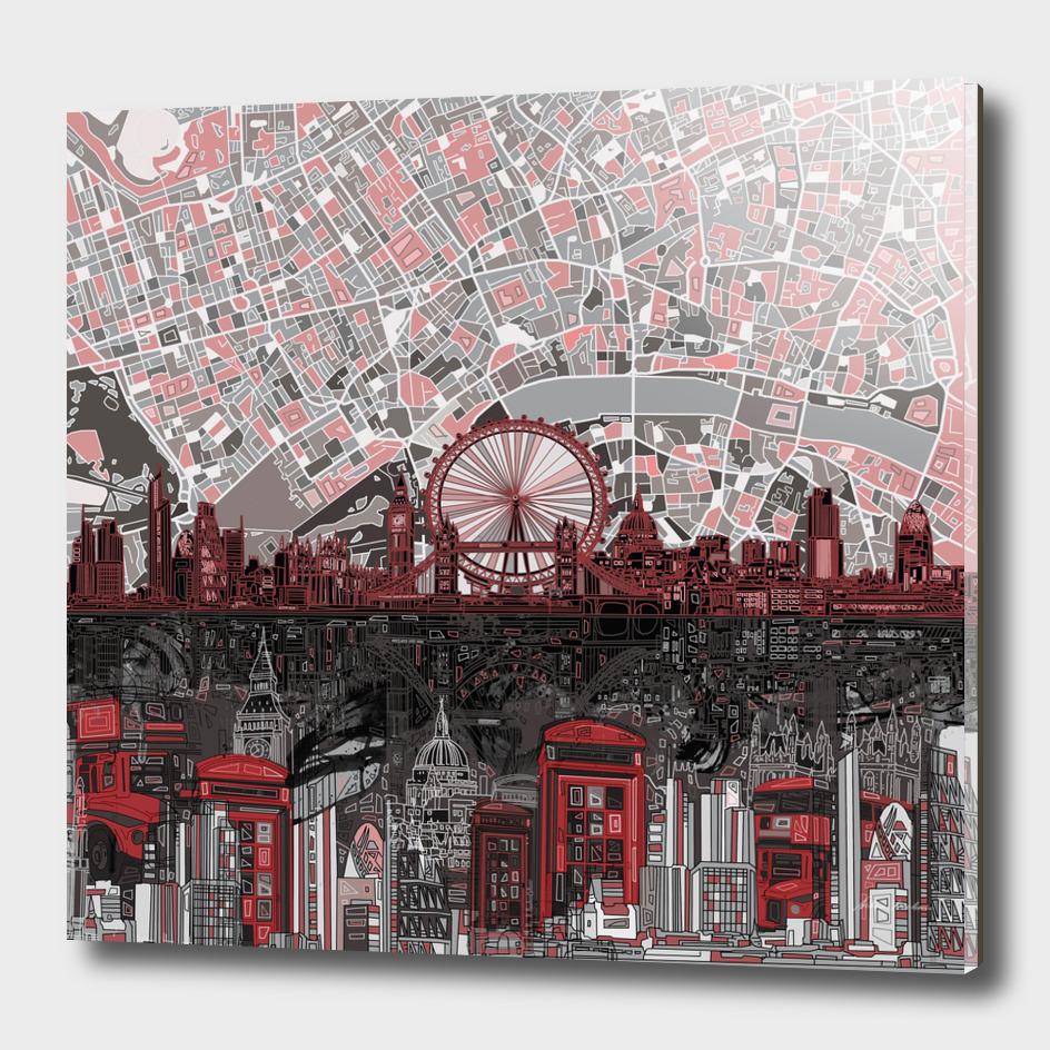 london city skyline abstract 6