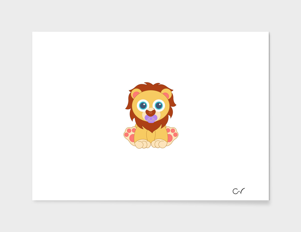 Baby Lion Caricature