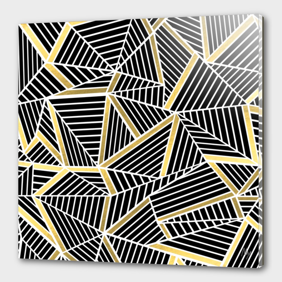 Ab Lines Black And Gold