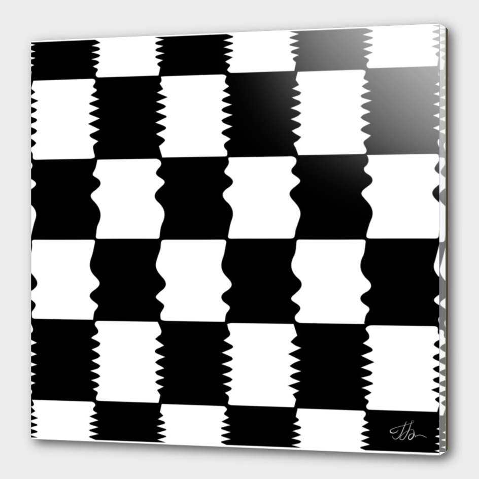 Amorphous checkerboard