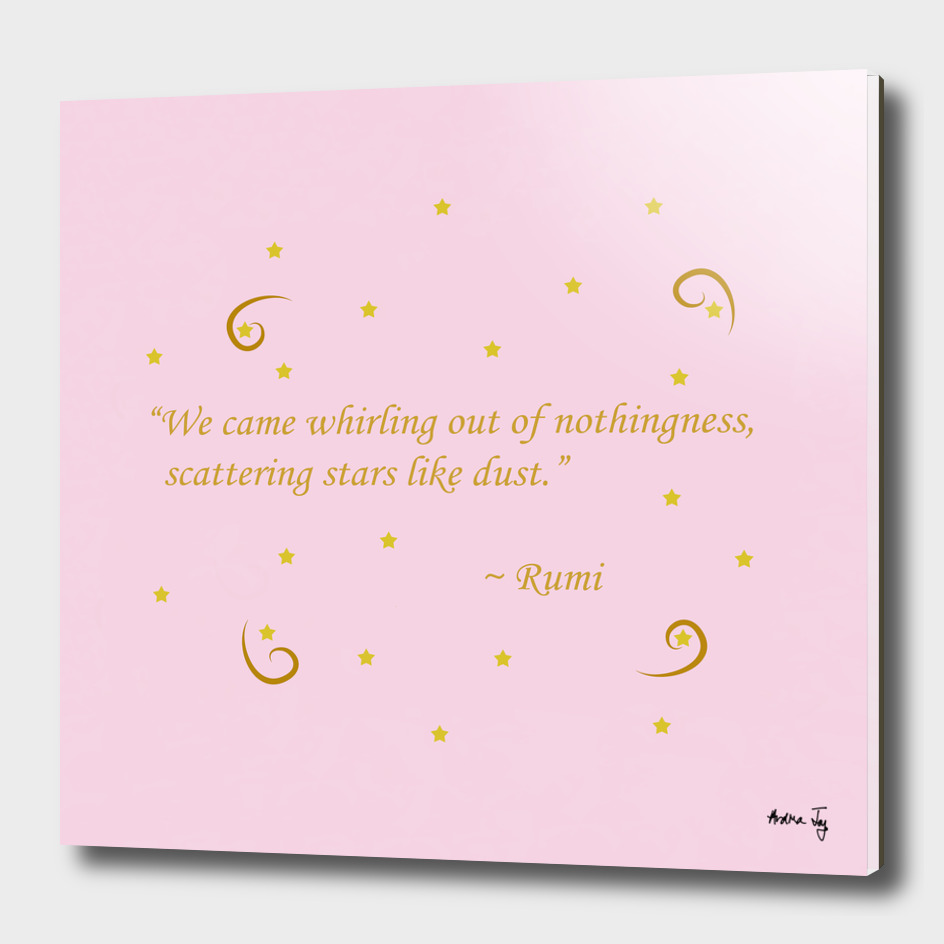 Whirling out of nothingness