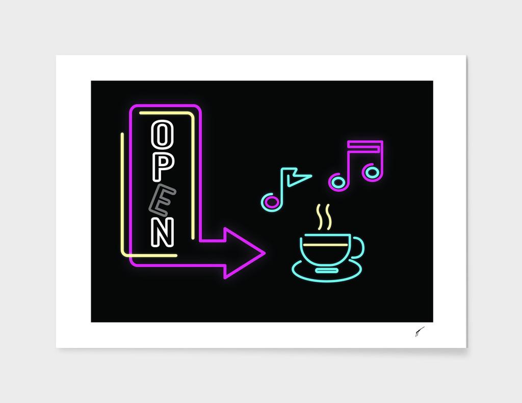 Coffee Poster 81 - Neon Light