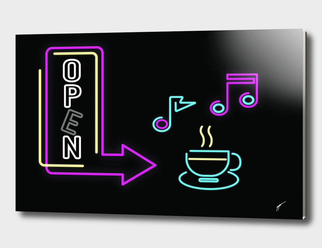 Coffee Poster 81 - Neon Light