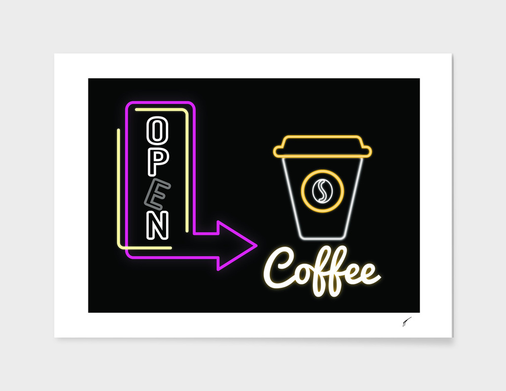 Coffee Poster 82 - Neon Light