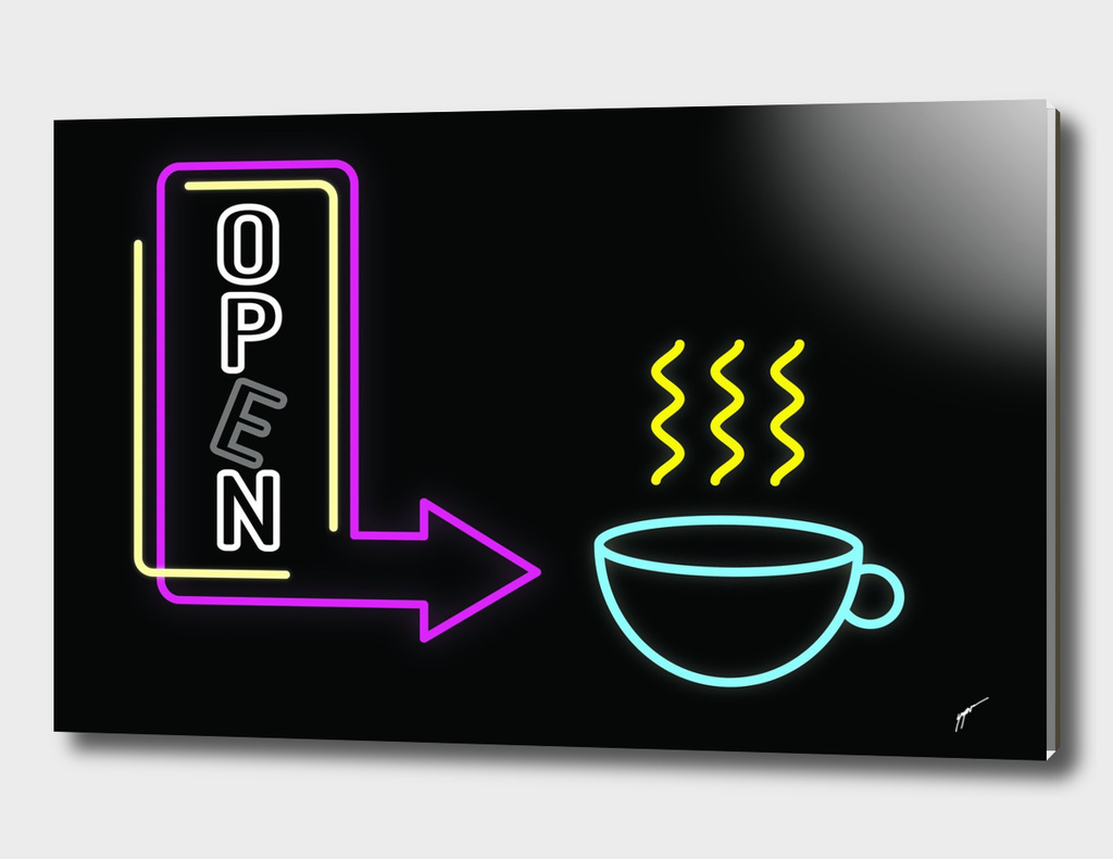 Coffee Poster 83 - Neon Light