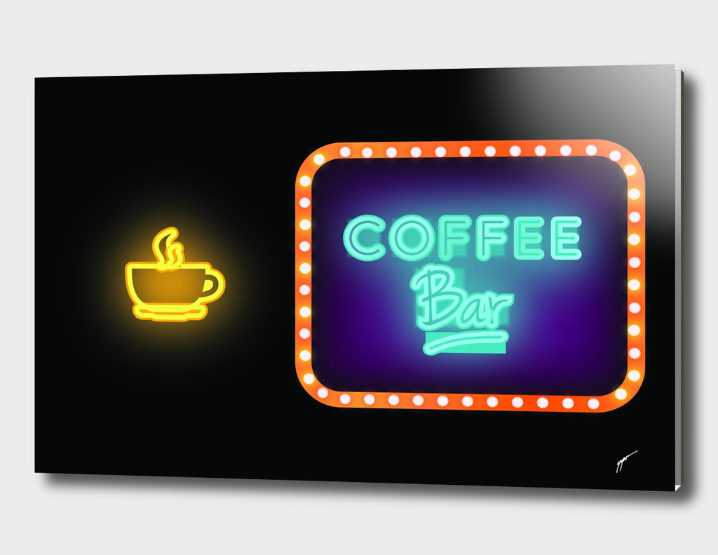 Coffee Poster 85- Neon Light