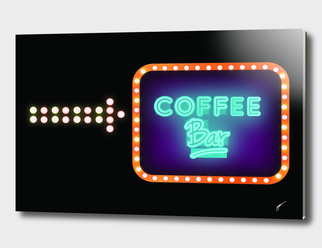 Coffee Poster 86- Neon Light