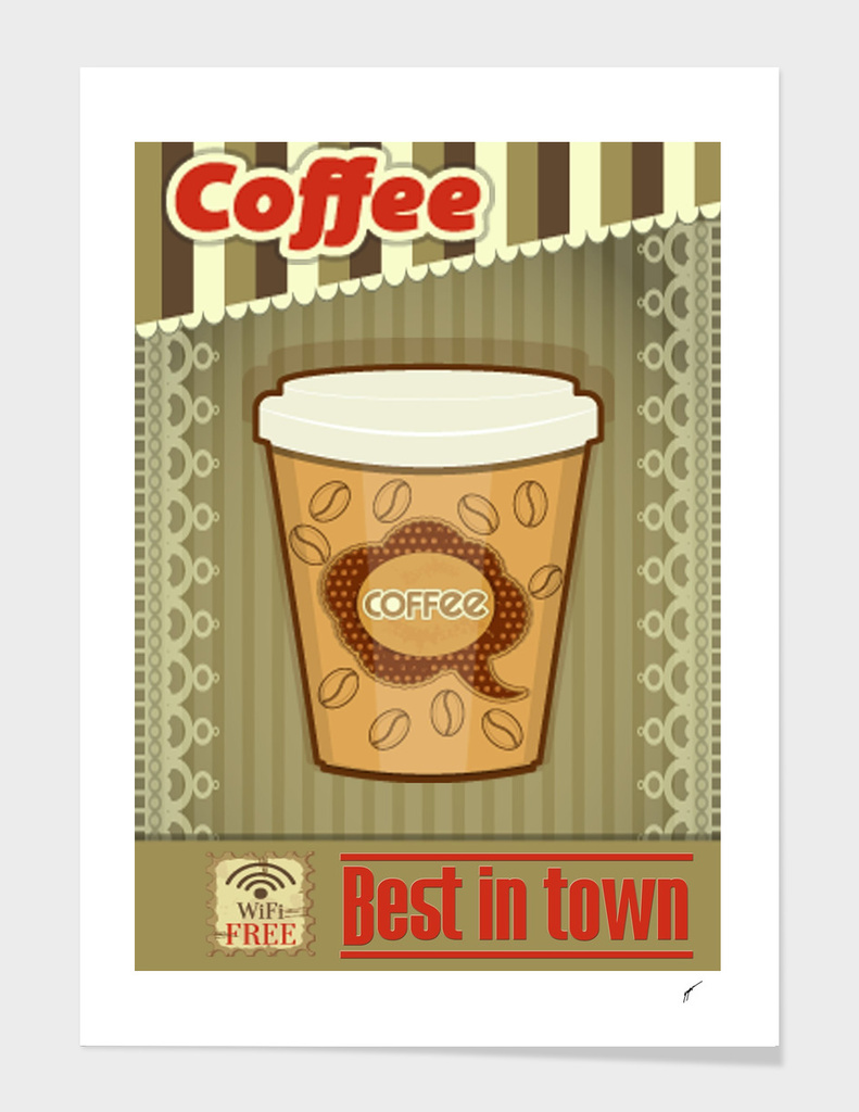 Coffee Poster 87 - Best In Town