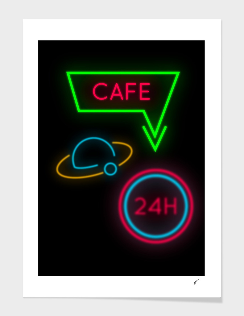 Coffee Poster 92 - Neon 24H