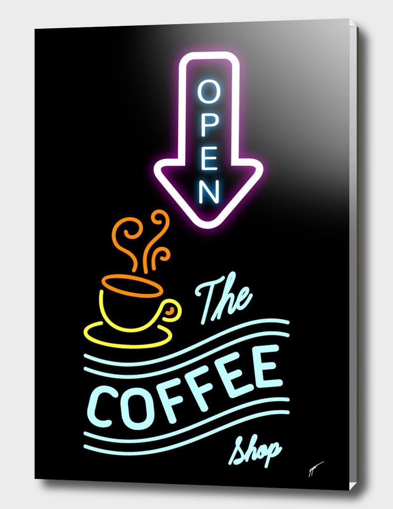 Coffee Poster 95 - Neon Coffee Shop