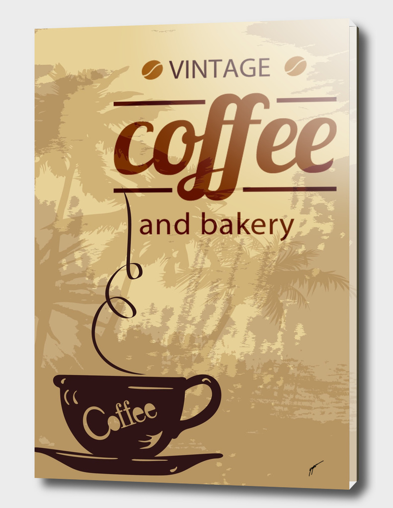 Coffee Poster 100 - Vintage