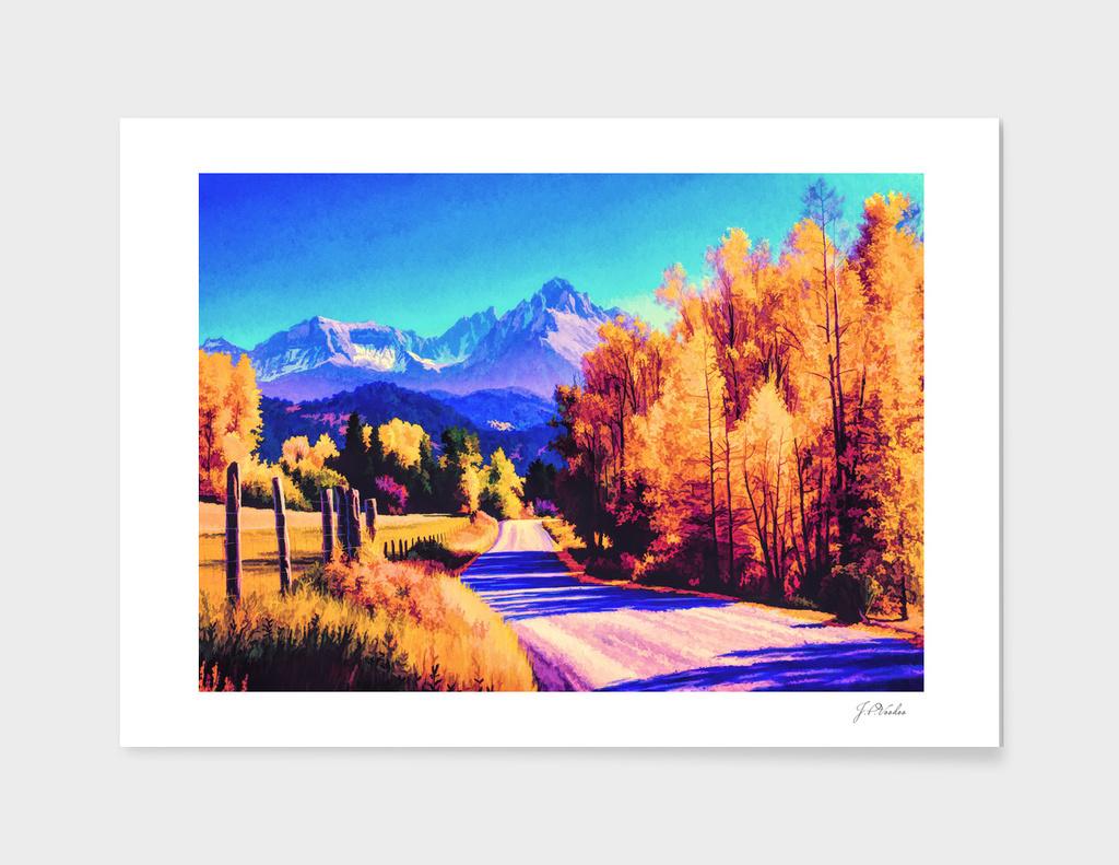 Autumn oil painting