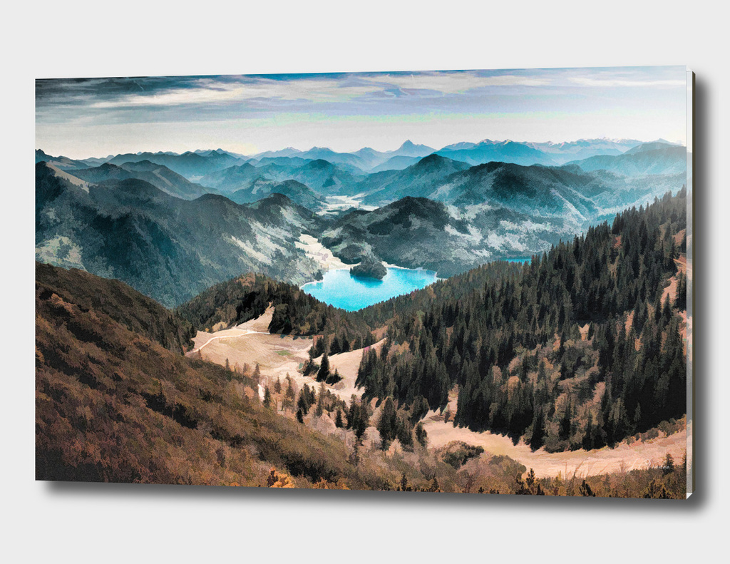 Lake in the Mountains oil painting