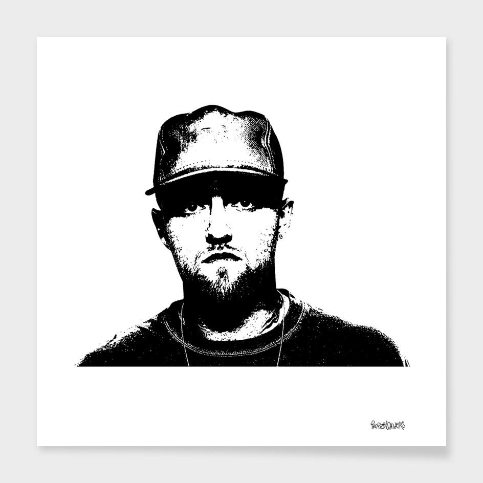 Mac Miller Stencil