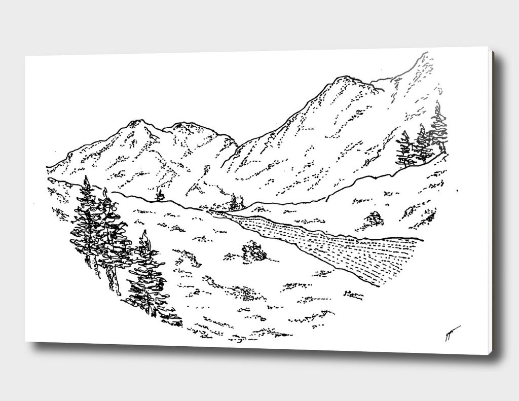 Sketch 03 - Mountain View