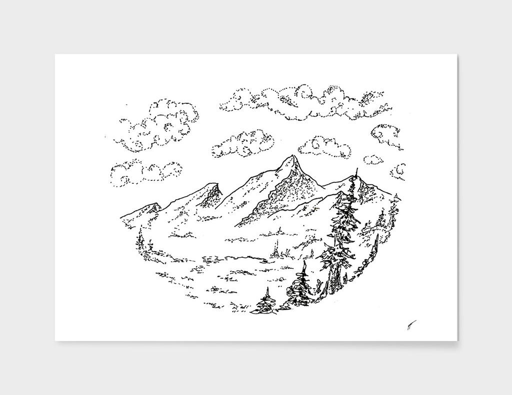 Sketch 09 - Mountain View