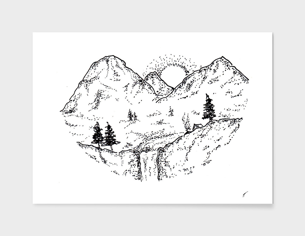 Sketch 11 - Mountain View