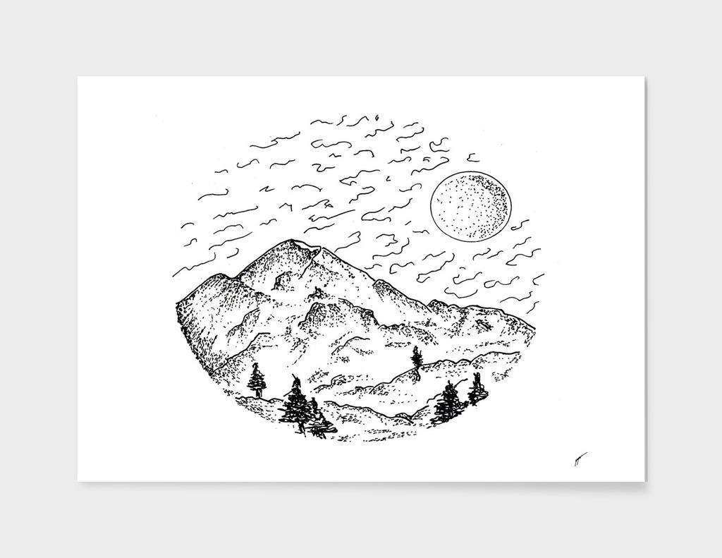 Sketch 12 - Mountain View
