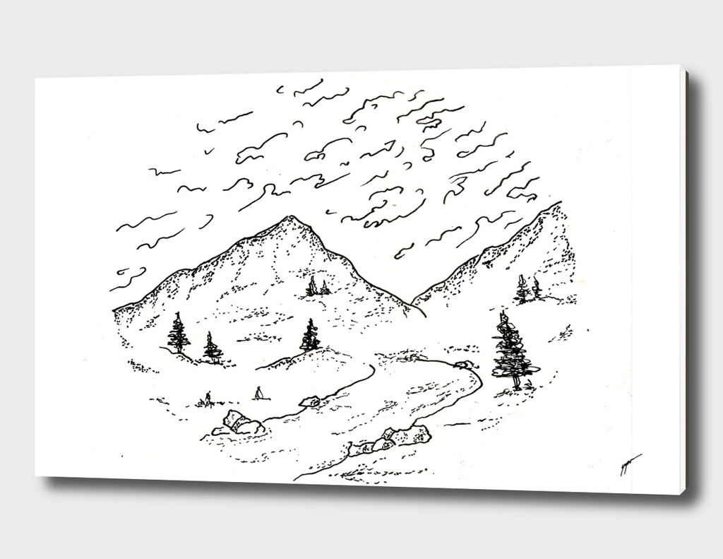 Sketch 14 - Mountain View