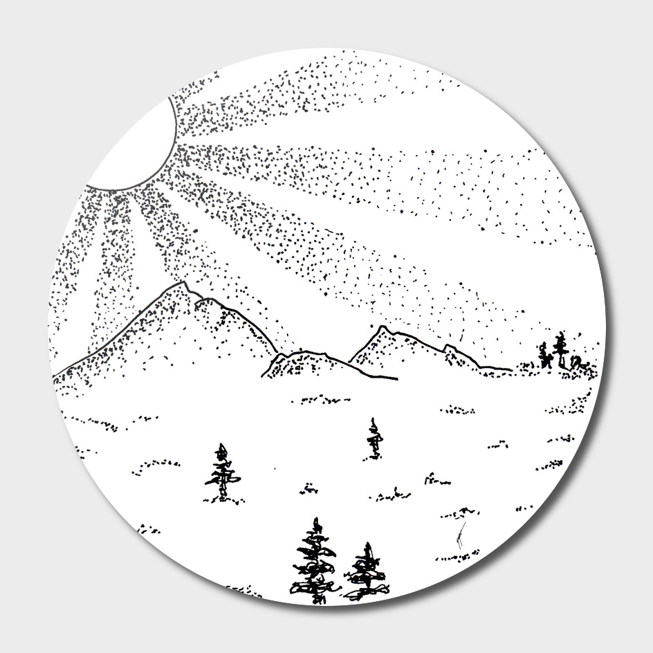 Sketch 18 - Mountain View