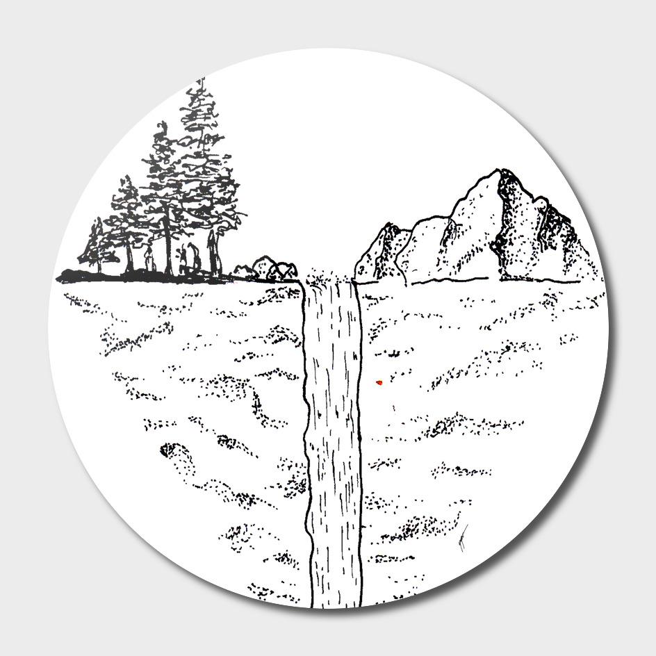Sketch 24 - Waterfall