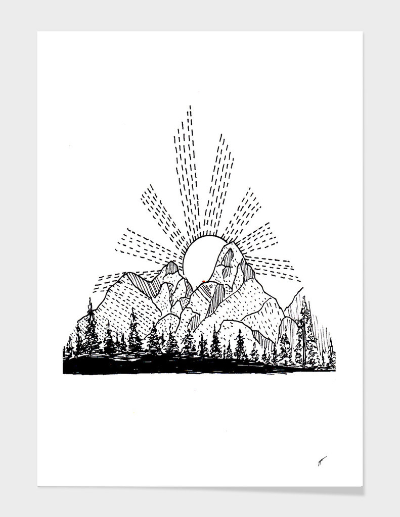 Sketch 25 - Mountain View