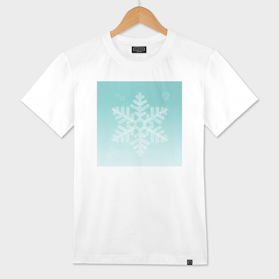 Snowflake Greetings - Ombre Teal