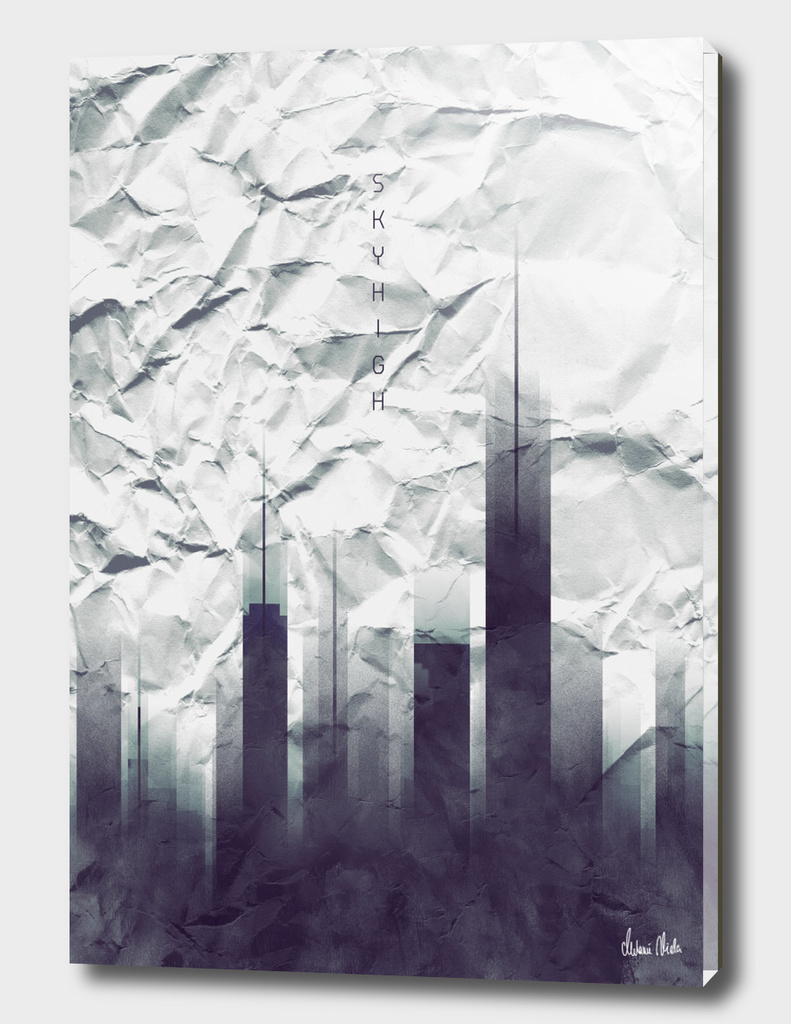 Graphic Art SKYHIGH Vintage Look | white