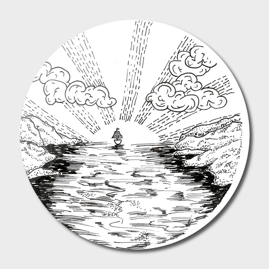 Sketch 36 - Sailing